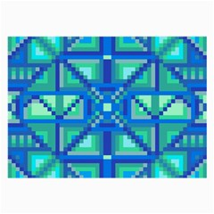 Grid Geometric Pattern Colorful Large Glasses Cloth (2 Side) by Nexatart