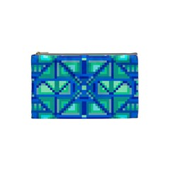 Grid Geometric Pattern Colorful Cosmetic Bag (small)  by Nexatart