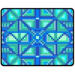Grid Geometric Pattern Colorful Fleece Blanket (medium)  by Nexatart