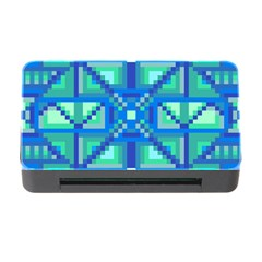 Grid Geometric Pattern Colorful Memory Card Reader With Cf by Nexatart