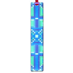 Grid Geometric Pattern Colorful Large Book Marks by Nexatart