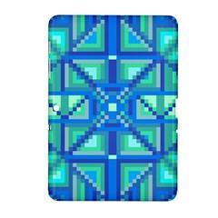 Grid Geometric Pattern Colorful Samsung Galaxy Tab 2 (10 1 ) P5100 Hardshell Case  by Nexatart