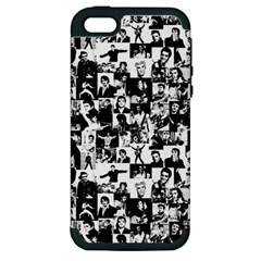 Elvis Presley Pattern Apple Iphone 5 Hardshell Case (pc+silicone) by Valentinaart