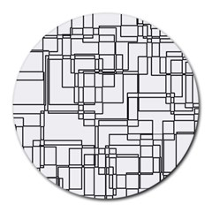 Structure Pattern Network Round Mousepads by Nexatart