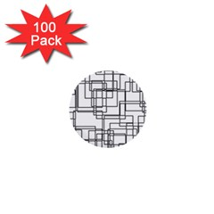 Structure Pattern Network 1  Mini Buttons (100 Pack)  by Nexatart