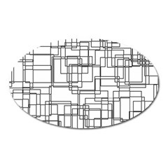 Structure Pattern Network Oval Magnet by Nexatart
