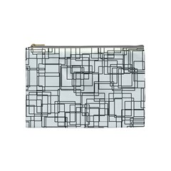 Structure Pattern Network Cosmetic Bag (medium)  by Nexatart
