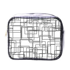 Structure Pattern Network Mini Toiletries Bags by Nexatart