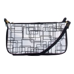 Structure Pattern Network Shoulder Clutch Bags by Nexatart