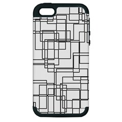 Structure Pattern Network Apple Iphone 5 Hardshell Case (pc+silicone) by Nexatart