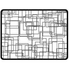 Structure Pattern Network Double Sided Fleece Blanket (large)  by Nexatart