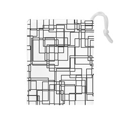 Structure Pattern Network Drawstring Pouches (large)  by Nexatart