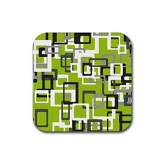 Pattern Abstract Form Four Corner Rubber Square Coaster (4 Pack)  by Nexatart