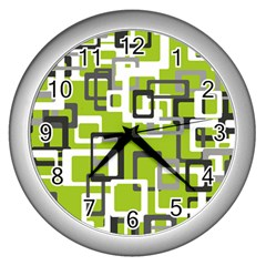 Pattern Abstract Form Four Corner Wall Clocks (silver)  by Nexatart