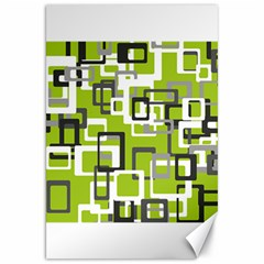Pattern Abstract Form Four Corner Canvas 20  X 30   by Nexatart