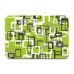 Pattern Abstract Form Four Corner Plate Mats by Nexatart