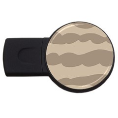 Pattern Wave Beige Brown Usb Flash Drive Round (2 Gb) by Nexatart