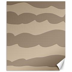 Pattern Wave Beige Brown Canvas 20  X 24   by Nexatart