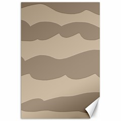 Pattern Wave Beige Brown Canvas 20  X 30   by Nexatart