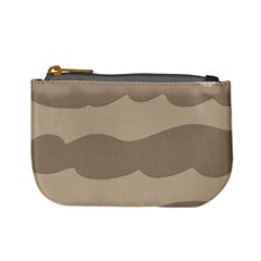 Pattern Wave Beige Brown Mini Coin Purses