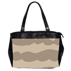 Pattern Wave Beige Brown Office Handbags (2 Sides)  by Nexatart