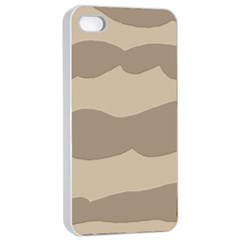 Pattern Wave Beige Brown Apple Iphone 4/4s Seamless Case (white) by Nexatart