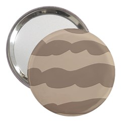 Pattern Wave Beige Brown 3  Handbag Mirrors by Nexatart