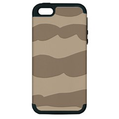Pattern Wave Beige Brown Apple Iphone 5 Hardshell Case (pc+silicone) by Nexatart