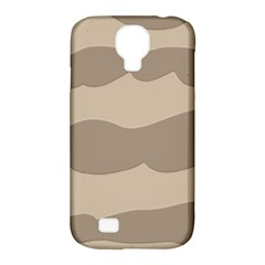 Pattern Wave Beige Brown Samsung Galaxy S4 Classic Hardshell Case (pc+silicone) by Nexatart