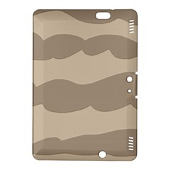 Pattern Wave Beige Brown Kindle Fire Hdx 8 9  Hardshell Case by Nexatart