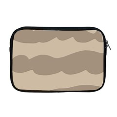 Pattern Wave Beige Brown Apple Macbook Pro 17  Zipper Case by Nexatart