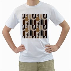 Pattern Wallpaper Patterns Abstract Men s T Shirt (white) (two Sided)