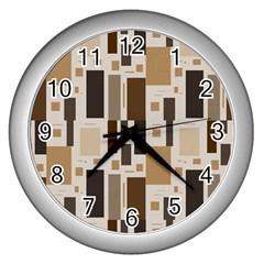 Pattern Wallpaper Patterns Abstract Wall Clocks (silver)  by Nexatart
