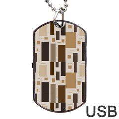 Pattern Wallpaper Patterns Abstract Dog Tag Usb Flash (two Sides) by Nexatart