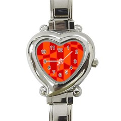 Background Texture Pattern Colorful Heart Italian Charm Watch by Nexatart