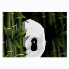 Panda Large Glasses Cloth by Valentinaart