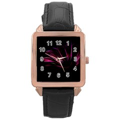 Pattern Design Abstract Background Rose Gold Leather Watch  by Nexatart