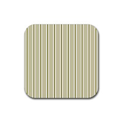 Pattern Background Green Lines Rubber Square Coaster (4 Pack)  by Nexatart