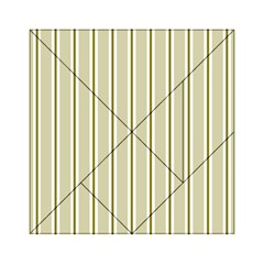 Pattern Background Green Lines Acrylic Tangram Puzzle (6  X 6 ) by Nexatart