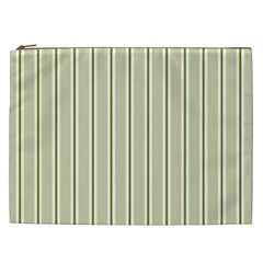 Pattern Background Green Lines Cosmetic Bag (xxl)  by Nexatart