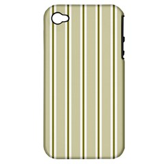 Pattern Background Green Lines Apple Iphone 4/4s Hardshell Case (pc+silicone) by Nexatart