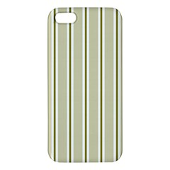 Pattern Background Green Lines Iphone 5s/ Se Premium Hardshell Case by Nexatart