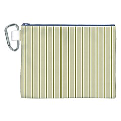 Pattern Background Green Lines Canvas Cosmetic Bag (xxl) by Nexatart