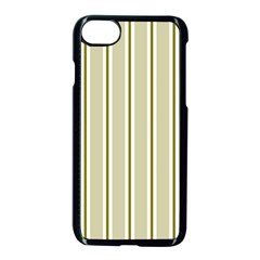 Pattern Background Green Lines Apple Iphone 7 Seamless Case (black) by Nexatart