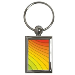 Abstract Pattern Lines Wave Key Chains (rectangle)  by Nexatart