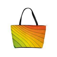 Abstract Pattern Lines Wave Shoulder Handbags by Nexatart