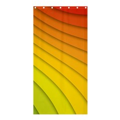 Abstract Pattern Lines Wave Shower Curtain 36  X 72  (stall)  by Nexatart