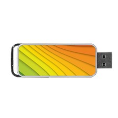 Abstract Pattern Lines Wave Portable Usb Flash (one Side) by Nexatart