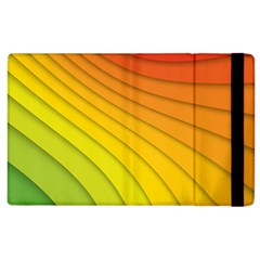 Abstract Pattern Lines Wave Apple Ipad 3/4 Flip Case by Nexatart