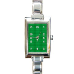 Pattern Green Background Lines Rectangle Italian Charm Watch by Nexatart
